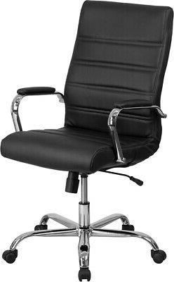 High Back LeatherSoft Executive Swivel Office Chair with Chr