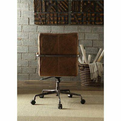 Bowery Leather Office Brown