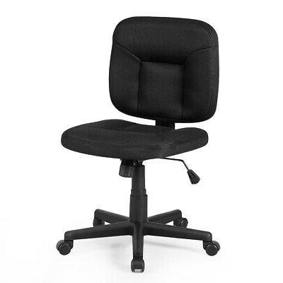 Mesh Low Back Adjustable Chair Armless Office