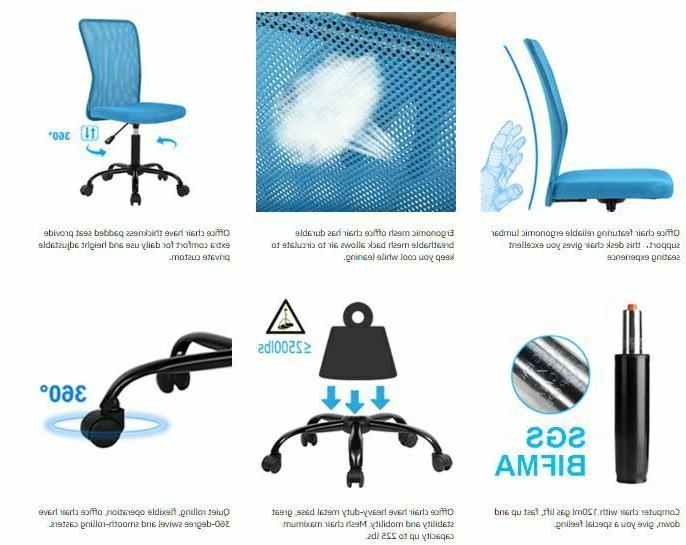 Mesh Office Chair with Ergonomic Support Chair Adjustable