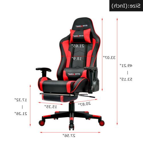 Music Speaker Office Chair Game Free Footrest