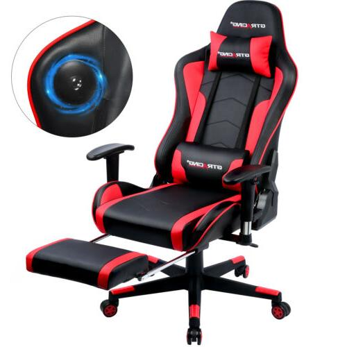 Music Chair with Speaker Office Game w/ Footrest