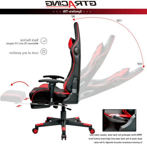 Music Chair with Speaker Chair Video Game w/ Footrest