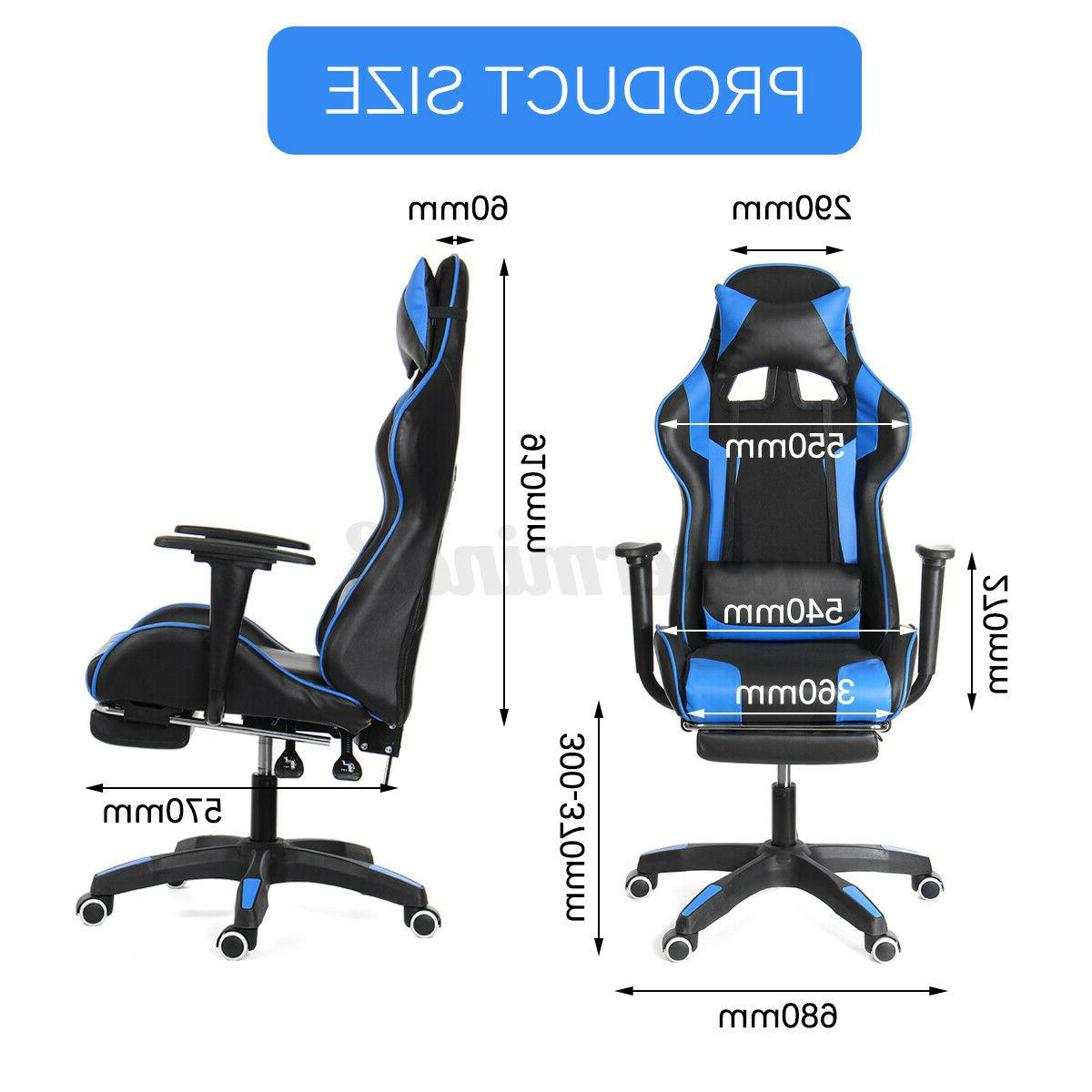 Office Gaming Seat Swivel Footrest