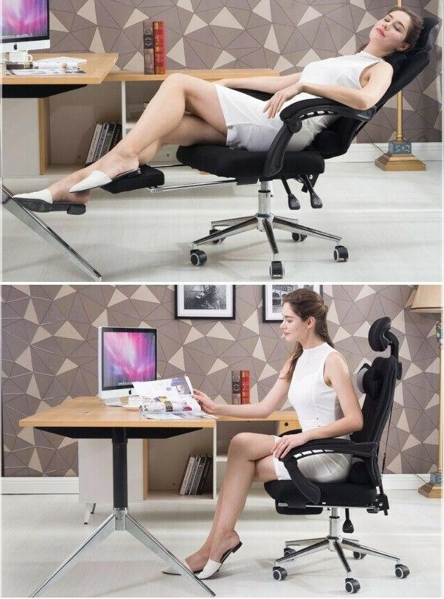 Office Chair Lacework Lying And Lifting Armchair Footrest