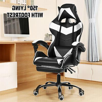 Office Gaming Chairs 150° Recliner Racing Swivel Task