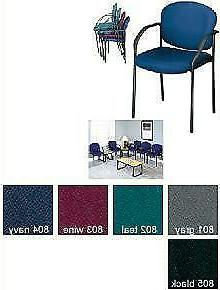 Stackable Guest Chair, Fabric/Gray