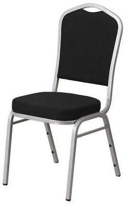 Stacking Banquet Chair with Black Fabric
