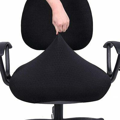 Stretch Protectors Chair Seat Cover Anti-dust Desk Black