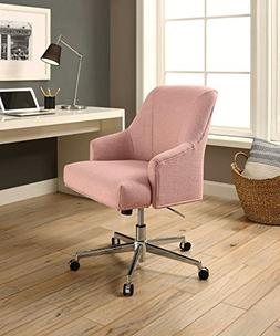 Serta Style Leighton Home Office Chair, Party Blush Pink Twi