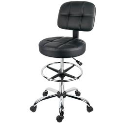 Leopard Round Drafting Chair, Adjustable Swivel Tall Office