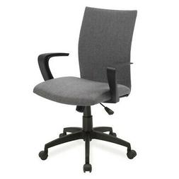 Bowery Hill Linen Office Chair in Gray