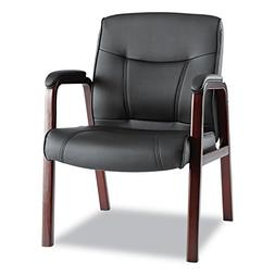 Alera MA43ALS10M Madaris Series Leather Guest Chair W/Wood T