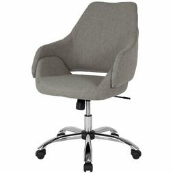 Flash Furniture Madrid Mid Back Swivel Office Chair in Light