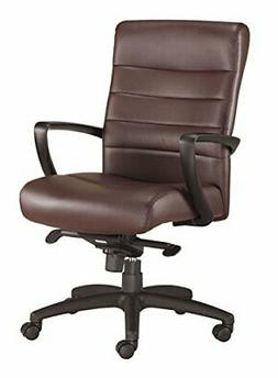 Eurotech Seating Manchester LE255-BRNL Mid Back Leather Chai