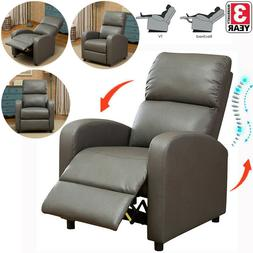 Pushback Recliner Sofa Chair Leather Living Room Padded Seat