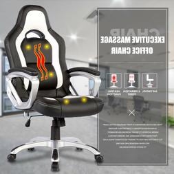 Mecor Massage Office Chair Race Car Style PU Leather Compute