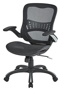 Office Star Mesh Back & Seat, 2-to-1 Synchro & Lumbar Suppor