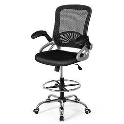 Mesh Drafting Chair Mid-Back Office Chair Adjustable Height