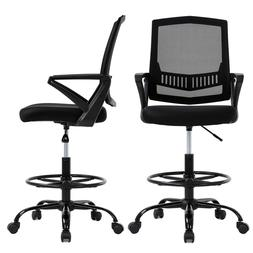 Mesh Drafting Chair Tall Office Chair with Lumbar Support Ar