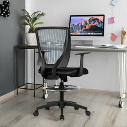 Mesh Drafting Mid Back Office Chair Adjustable Height with F
