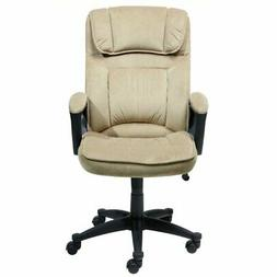Bowery Hill Microfiber Executive Office Chair in Velvet Coff