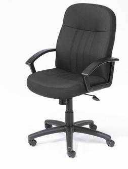 Boss Office Products Mid-Back Fabric Managers Chair in Black
