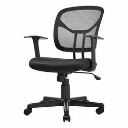 Mid-Back Desk Office Chair with Armrests - Mesh Back, Swivel