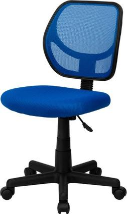 Mid-Back Blue Mesh Task Chair & Computer Chair