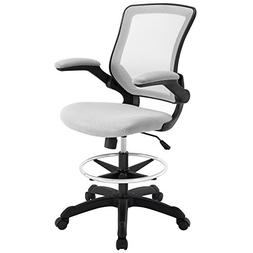 Modway Veer Drafting Stool-Chair , Gray