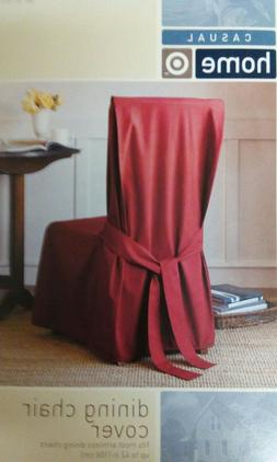 """NWT-Dining Chair Cover, Fits Armless Chairs up to 42"""", Solid"""
