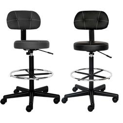Office Drafting Chair Detachable Mid Back Counter Height Bar