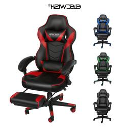 Gaming Chair Video Racing Ergonomic Massage PU Leather Offic