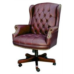 Boss Office Products Traditional Wing Back Executive Chair,