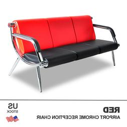 Office Waiting Chair Airport Bench 3-Seat Reception PU Leath