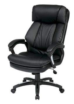 Office Star Oversized Faux Leather Executive Chair with Padd