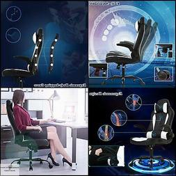 PC Gaming Chair Ergonomic Leather Cheap Desk Chair with Lumb