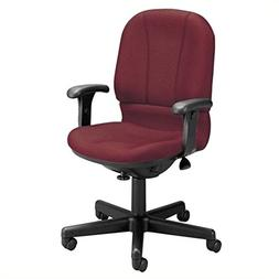 Posture Mid-Back Confrence Chair with Arms, Wine