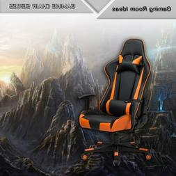 Racing Office Chair High-Back PU Leather Gaming Chair Reclin