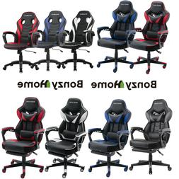 Racing Style Office Gaming Chair Ergonomic Leather Swivel Re