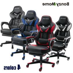 Racing Video Gaming Chair Leather Home Office Computer Desk