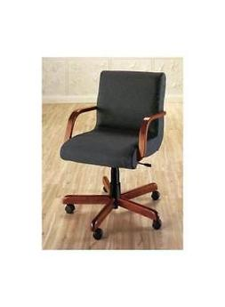 Scoop Management Swivel Chair w Wood Arms