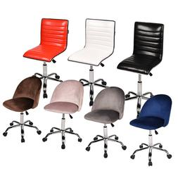 Home Office Chair Mid Back Armless Rolling Adjustable Swivel