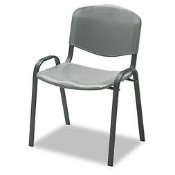 Safco Stacking Chairs Charcoal w/Black Frame 4/Carton 4185CH