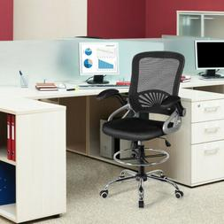 Sturdy Mesh Drafting Chair Mid Back Office Chair Adjustable