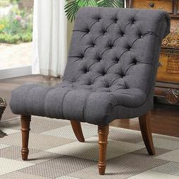 Tufted Side Chair Living Room Den Office Armless Accent Chai