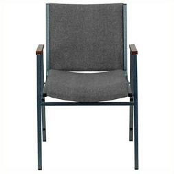 Bowery Hill Upholstered Stacking Chair in Gray