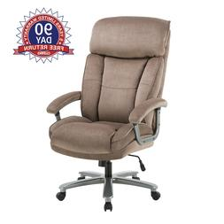 Upholstered Swivel Executive Chair Home Office Computer Desk
