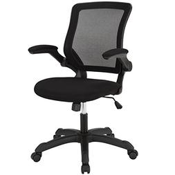 Modway Veer Office Chair with Mesh Back and Black Vinyl Seat