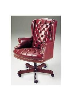 Wing Back Executive Swivel Chair w Tufted Back